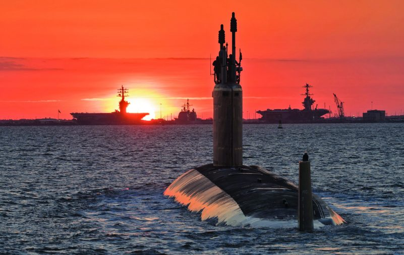 160527-N-N0101-134 NEWPORT NEWS, Va. (May 27, 2017) An undated photo of the future USS Washington (SSN 787). The Navy accepted delivery of the 14th submarine of the Virginia-class, May 26.  (U.S. Navy photo courtesy of Huntington Ingalls Industries by Matt Hildreth/Released)