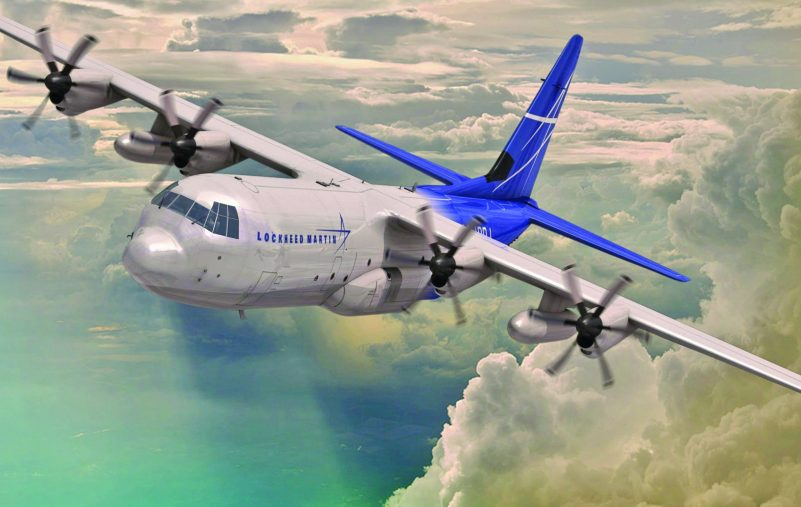 Lockheed Martin's LM-100J incorporates technological developments and improvements over the existing L-100s that result from years of C-130J operational experience, including more than 1.3 million flight hours by operators in 16 nations. (Rendering by Marco Riccio) (PRNewsFoto/Lockheed Martin Aeronautics...)