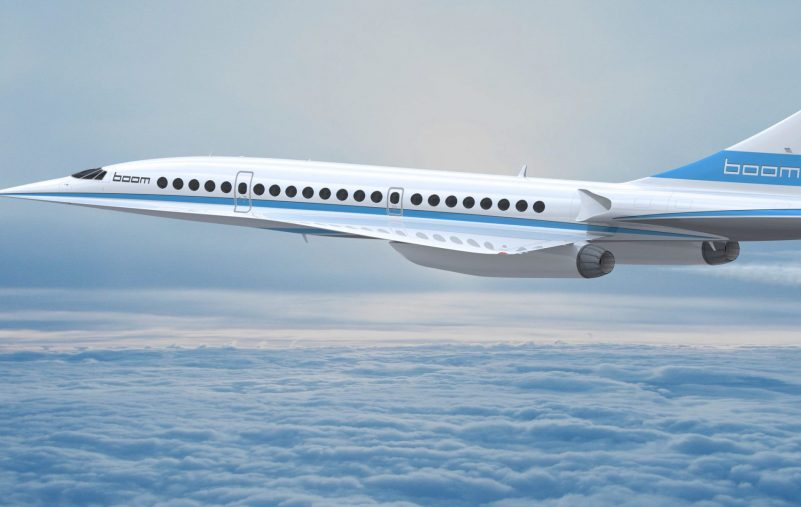 Boom supersonic plane in flight. (PRNewsFoto/Boom Technology, Inc.)