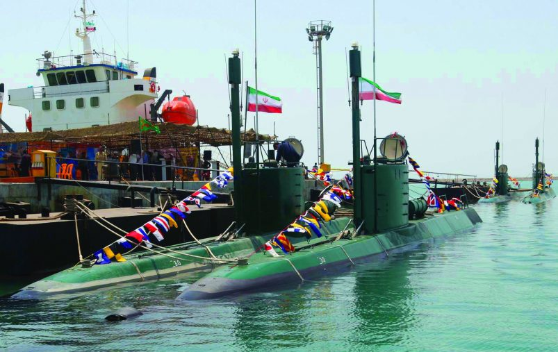 This is a photo released by the Iranian Defense Ministry which they claim shows Iran's Ghadir submarines in the southern port of Bandar Abbas in Persian Gulf, Iran, Sunday, Aug. 8, 2010. Iran's state media say the country's navy has taken charge of four new Iranian-built submarines as part of Tehran's efforts to upgrade its defense capabilities. (AP Photo/Iranian Defense Ministry, Vahid Reza Alaei,) EDS NOTE: THE ASSOCIATED PRESS HAS NO WAY OF INDEPENDENTLY VERIFYING THE CONTENT, LOCATION OR DATE OF THIS IMAGE.