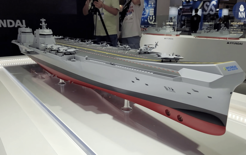 Video-Day-1-at-MADEX-2021-ROK-Navys-CVX-Light-Aircraft-Carrier-with-HHI-and-DSME
